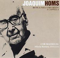 Portada del CD: Joaquim Homs. Música per a Cor Mixt a capella