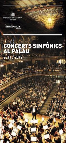 Cartell del Cicle Concerts Simfònics al Palau