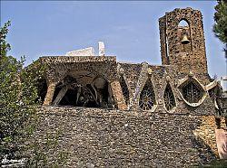 Vista de la Cripta de la Colònia Güell, Santa Coloma de Cervelló